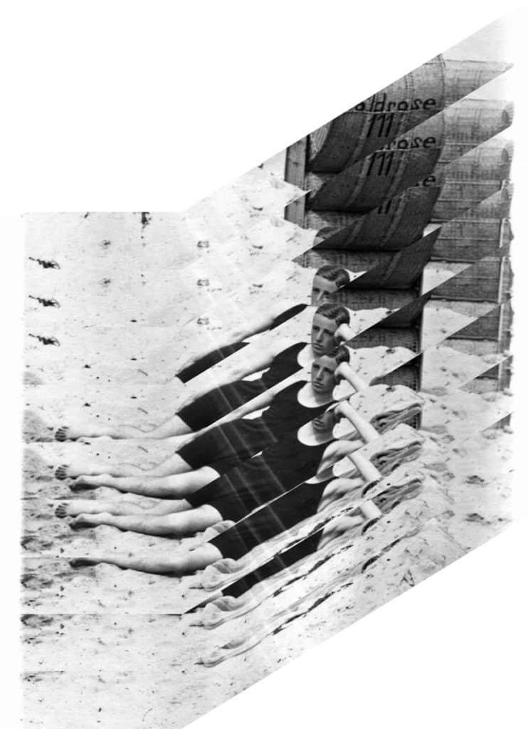 edouard taufenbach jeune garcon allongé noir et blanc