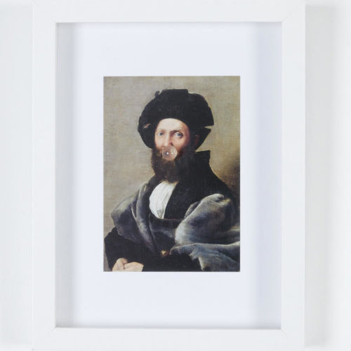 You fuit hic, Raphaël, Portrait de Baldassare Castiglione, Samir Willems Courtesy de l'artiste